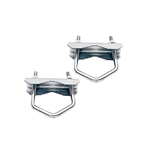 HD-LINE 2X Doppelschelle Sat Mast Schelle Zahnschelle verzinkt