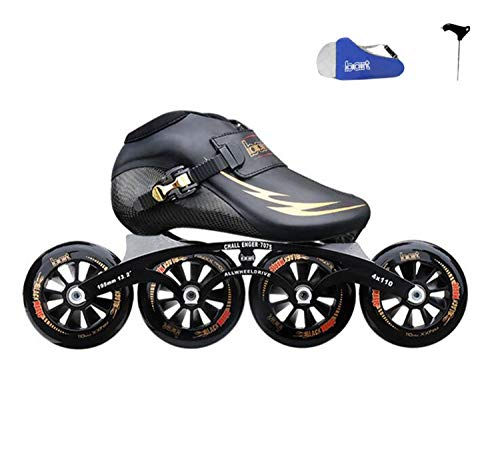TTYY Professional Speed Inline Skates Carbon Fiber Competition Skates 4 Wheels Street Racing Skating Patines EU38