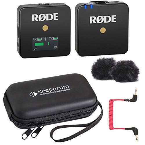 Rode WIGO Wireless GO - Sistema de micrófono inalámbrico con funda blanda