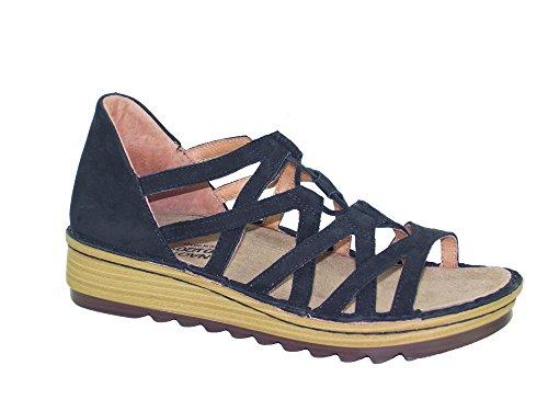 Naot Damen Schuhe Sandaletten Yarrow Echt-Leder schwarz 15451 Wechselfußbett, Größe:38