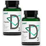 Puori - D3 Vitamin D for Healthy Muscle Function, Bone Health, & Immune Support - Organic Cold Press Coconut Oil, 2500 IU, 240 Softgel