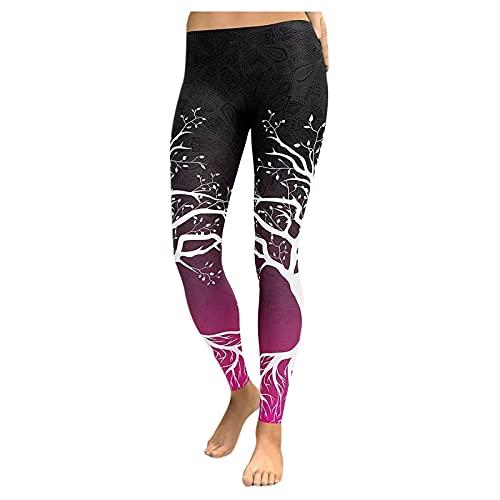 QTJY Pantalones de Yoga Ajustados de Cintura Alta sin Costuras para Mujer, para Correr al Aire Libre, Gimnasio, Entrenamiento para Celulitis, Pantalones Deportivos Push-up Atractivos B S