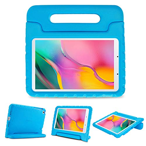 ProCase Kids Case for Galaxy Tab A 8.0 2019 T290 T295, Shockproof Convertible Handle Stand Cover Light Weight Kids Friendly Protective Case for 8.0 Inch Galaxy Tab A 2019 Without S Pen Model -Blue
