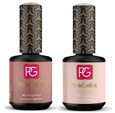Pink Gellac Shellac Gel Nagellack 2er Set 30 ml für UV LED Lampe | 166 Vintage Nude Rosa Rose 15 ml...