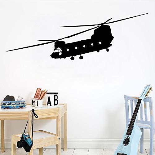 Pegatinas de pared de avión para niños, sala de estar, dormitorio, helicóptero, decoración del hogar, calcomanía, papel tapiz artístico, Mural A6 58x19cm
