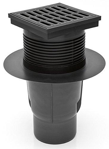 Chudej Hofablauf mit Kunststoffrost Belastung bis 300 Kg DN 110 827-S, Schwarz