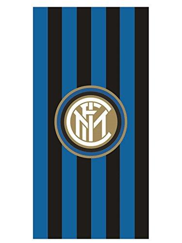 Inter F.C. - Telo Mare Ufficiale in Spugna - Asciugamano Originale in Spugna 100% Cotone Uomo e Bambino - Misura Piccola 70X140