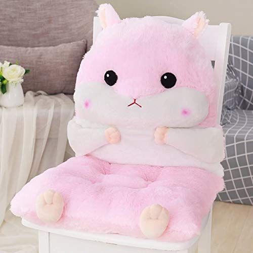 TGhosts Plüschkissen Einteiliger Kissen Weibliche Kissen EIN Bürostuhl Kissen Eindickung Studentensitz Dining Chair Cushion Board Hocker Ass abnehmbares Multifunktions Praktische (Color : Pink)