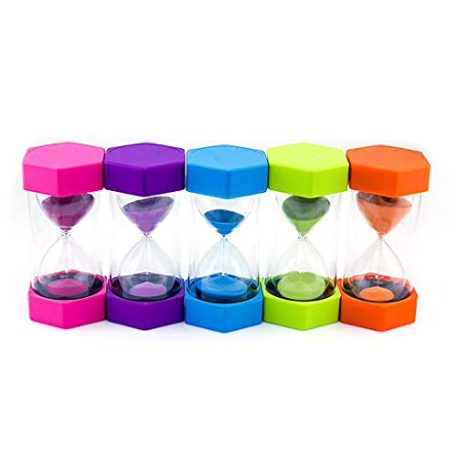 VVXXMO Temporizador de reloj de arena de 10/15/20/30/60 minutos, temporizador de reloj de arena para niños, decoración de escritorio