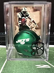 NEW Green New York Jets NFL Helmet Shadowbox w/Curtis Martin card