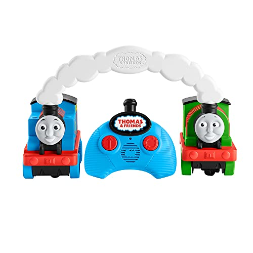 ?Fisher-Price Thomas & Friends Race & Chase R/C - UK English Edition, remote controlled toy train engines for toddlers and preschool kids