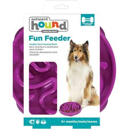 Outward Hound Fun Feeder Flower Purple