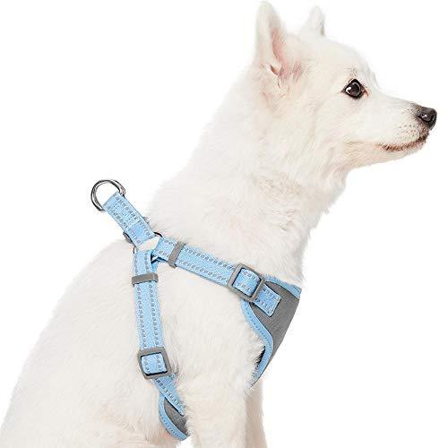 UMI. Essential Pastel - Arnés Tipo Chaleco para Perros Reflectante L, Contorno del Pecho 74-98 cm, arneses Ajustables para Perros (Azul bebé)