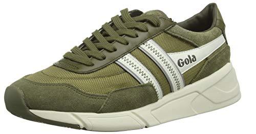 Gola Eclipse Legacy, Zapatillas para Hombre, Verde (Khaki/Off White NW), 44 EU