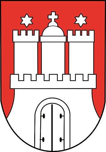 U24 Aufkleber Hamburg Wappen Autoaufkleber Sticker Konturschnitt