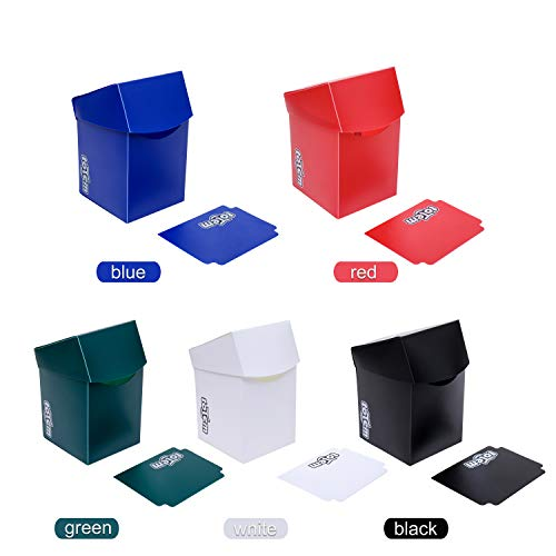 5 Totem Pro 100+ Size Deck Boxes in Assorted Colors - Fits Pokemon, Yu-Gi-Oh, and Magic The Gathering Cards - Durable Plastic Won't Bend Or Break - Perfect As Party Favors Or Kids Birthday Gifts