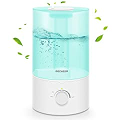 ULTRASONIC COOL MIST HUMIDIFIER: Gocheer powerful large humidifier for bedroom is highly recommended for home use. Air humidifiers can increase the humidity moisture indoors to improve home air quality. This efficient ultrasonic cool mist humidifier ...