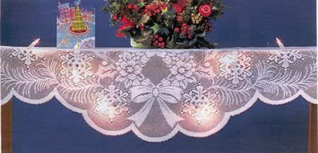 """2021 98"""" online sale Lighted Lace discount Holiday Mantel Scarf sale"""