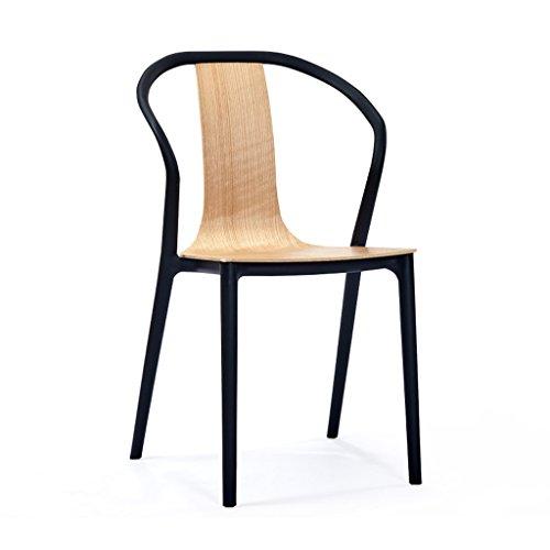 PLL moderne managersstoel voor de vrije tijd Libero – directeursstoel van kunststof – massief hout