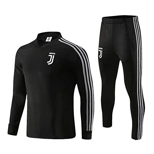 XSSC Freizeit Fußballuniform C Luo Milan Langarm-Trainingsanzug für Männer im Herbst und Winter Juve Home Service, atmungsaktiver Fußballpullover C-XXXL