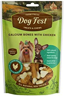 Dog Fest Calcium Bones With Chicken for Mini Dogs ,Dog Treats - 55g (1.94oz)