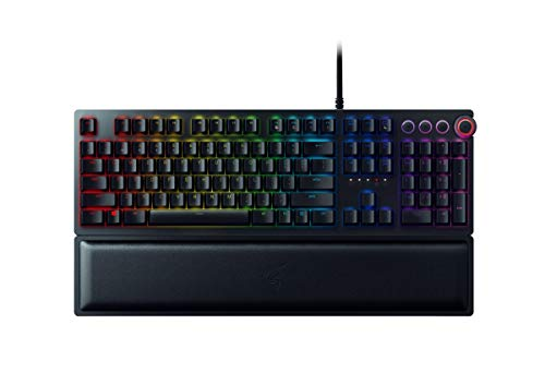 Razer Huntsman Elite USB QWERTY Inglés de EE. UU. Negro - Teclado (Alámbrico, USB, Opto-mechanical key switch, QWERTY, LED RGB,...