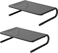 ERGONOMIC RISER STAND SUITABLE FOR VARIOUS DEVICES - This monitor riser can save you from developing a painful neck and back by keeping your monitor at a proper height. With platform dimensions of 14.5 x 9.5 inches, our desktop printer stand can also...