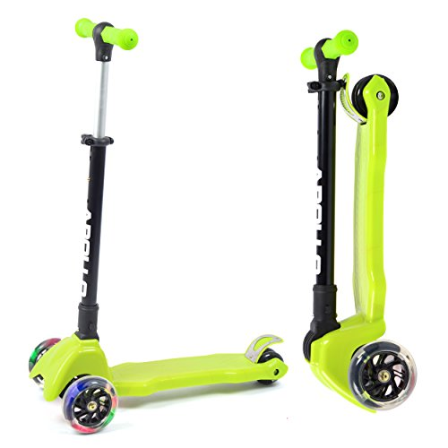 Apollo Scooter Candy Racer - Kinderroller ab 4-5 Jahren, Faltbarer Kinderscooter