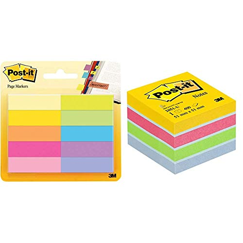 3M Post-It - Marcadores adhesivos para libros Pack 10 x 50 hojas...