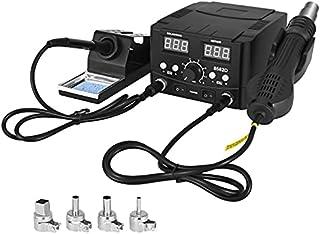 TOPQSC heteluchtdesoldeerstation, 2-in-1 heteluchtpistool Soldeerbout Digitale Soldeerset, LED Digitaal Display, Digitale ...