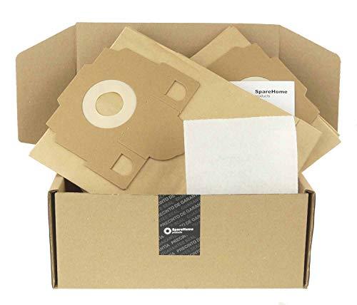 SpareHome® 10 Sacs Haute Performance + 1 Micro Filtre pour Aspirateur Progress Volta