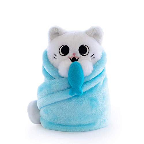Hashtag Collectibles Purritos 7 Inch Cat In Blanket Plush Series 2 Fishbone