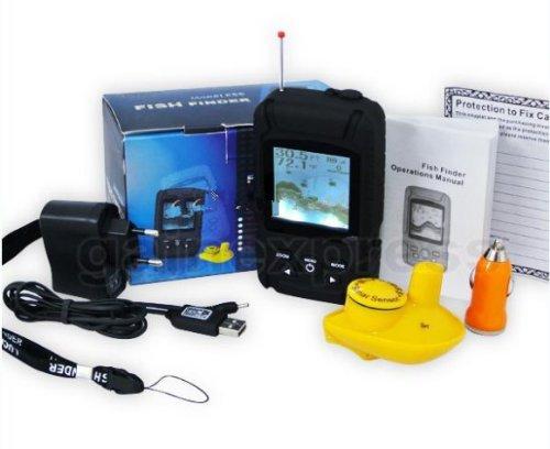 Gowe Akku wasserfestem Wireless Fishfinder Fisch-Finder 0,6–40m (2–131ft) Sensor 125KHz Sonar Frequenz