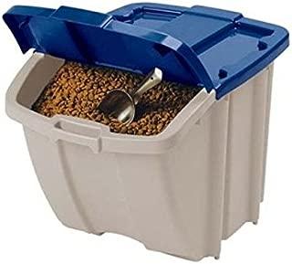 pet dog Food Storage Bin, 72 Quart, front flap, Durable resin, stays open (1)