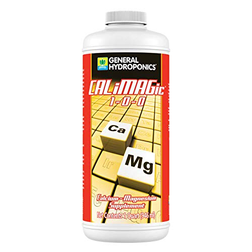 GENERAL HYDROPONICS CALiMAGic 1-0-0, Concentrated Blend of Calcium & Magnesium, Secondary Nutrient Deficiencies Helps Prevent Blossom End Rot & Tip Burn, Clean, Soluble, 1-Quart