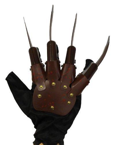 Un gant avec des griffes comme le tueur de vos cauchemars. Ideal pour les fêtes d'Halloween. ( X24 )