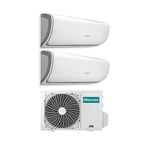 Klimaanlage Inverter Klimagerät Hisense Silentium Dual Split 9000+ 120009+ 12BTU 2amw42u4rra Gas R A + +