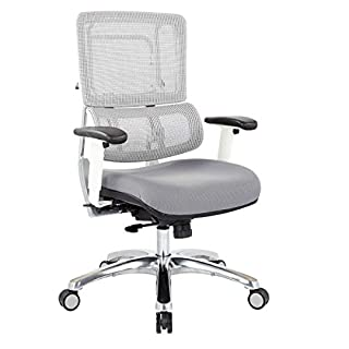 Office Star AMZ961 Breathable White Vertical Mesh Chair Without Headrest, Steel Seat (B074TV8NVM) | Amazon price tracker / tracking, Amazon price history charts, Amazon price watches, Amazon price drop alerts