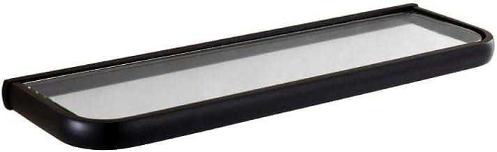 CBXSF Alle Kupfer Europäischen Stil Badezimmer Schwarz Schminktisch Rack Antiek Eckregal Toilette Aus Gehärtetem Glas