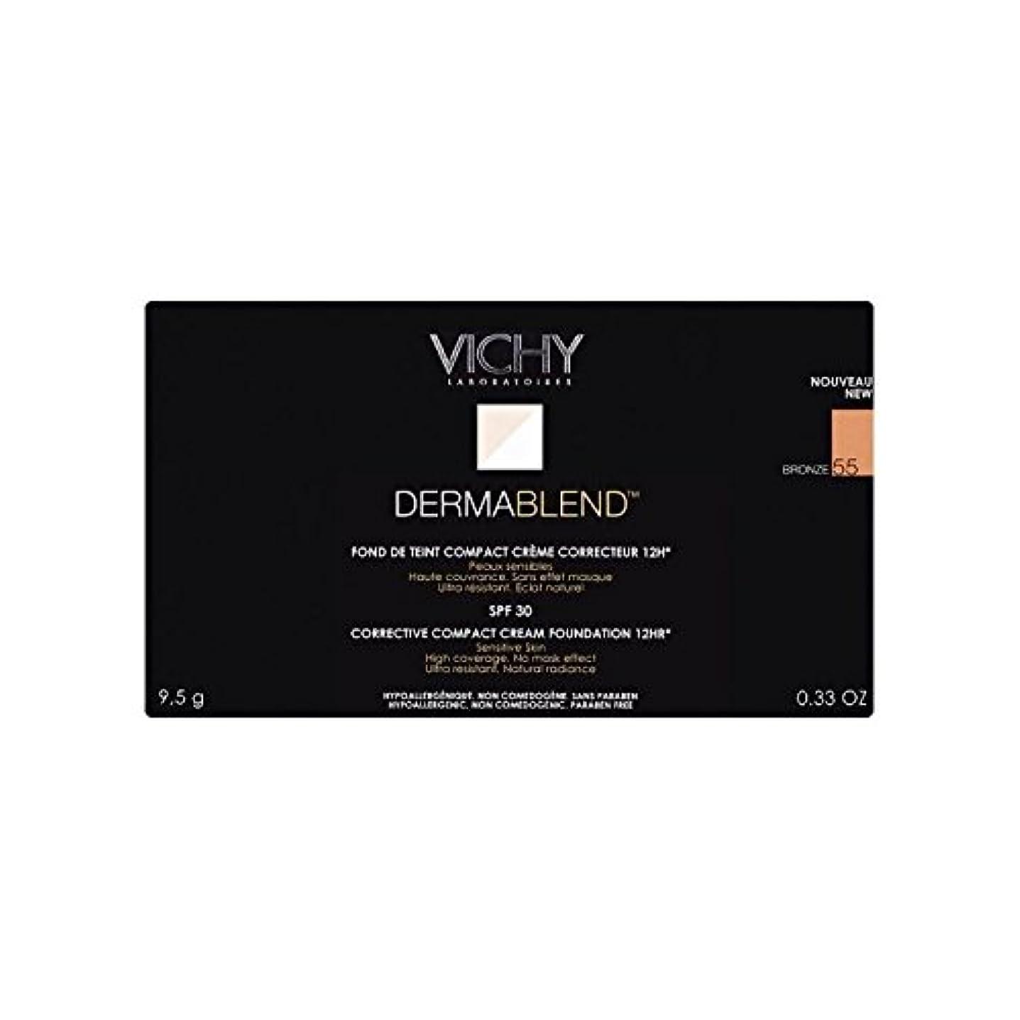 声を出して無効事前ヴィシー是正コンパクトクリームファンデーションブロンズ x4 - Vichy Dermablend Corrective Compact Cream Foundation Bronze (Pack of 4) [並行輸入品]