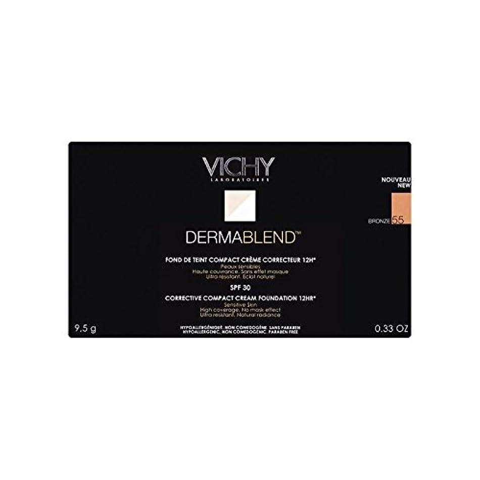 パーツ疑い等ヴィシー是正コンパクトクリームファンデーションブロンズ x4 - Vichy Dermablend Corrective Compact Cream Foundation Bronze (Pack of 4) [並行輸入品]