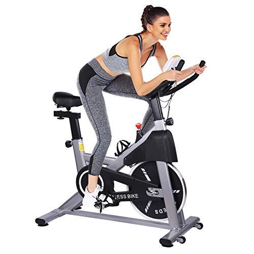 Magnetisches Heimtrainer Fahrrad für zuhause, Heim Sitzfahrrad mit Digitaler Monitor, Multifunktionaler Beintrainer Fahrradtrainer mit 5 einstellbare Sitzhöhen, Fitness Bike 150 kg Belastbar