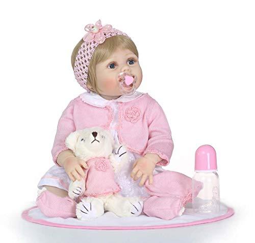 22 Pulgadas Realista Reborn Baby Dolls Vinilo De Silicona Reborn Toddler Bebita Muñeca Juguete