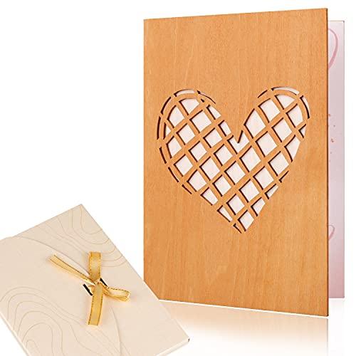Creawoo Tarjeta de felicitación de amor hecha a mano con sobre artístico para todas las ocasiones, cumpleaños romántico, aniversario, boda, citas, tarjeta de regalo de San Valentín