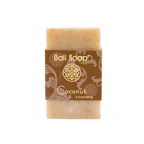 Bali Soap - Coconut Pack of 3, Natural Soap Bar, For Women, Men & Teens, Face or Body, Best for All Skin Types, 3.5 Oz each