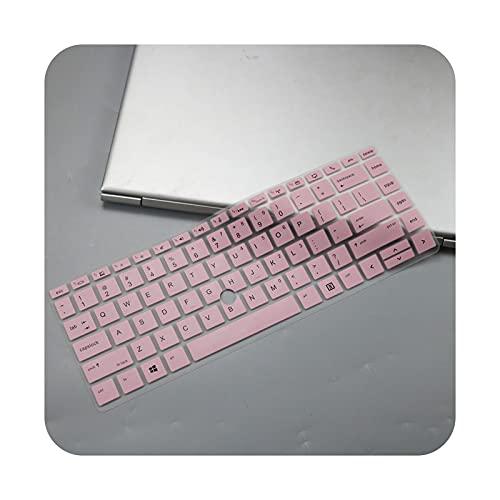 Funda protectora para teclado HP Elitebook 745 G5 / 840 G5 / 840 G6 con agujero Trackpoint 2019 color rosa