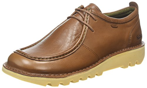 Kickers Kick Wall B Lthr Am, Zapatos de Cordones Derby Hombre, Marrón (Mid Brown/Black), 45 EU
