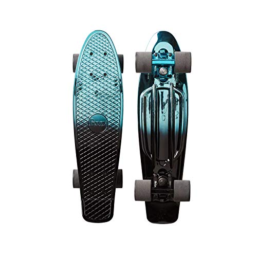 Fantastic Deal! Penny 22 Cruiser Skateboard - Blue Black Metallic Fade 22