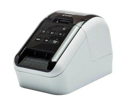 Brother QL810W Stampante per Etichette WiFi, USB 2.0, Taglierina Automatica, Stampa in Bianco e Rosso, Provenienza Spagna