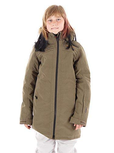 Brunotti ski-jack winterjas sneeuwjas Jeana groen waterdicht bont